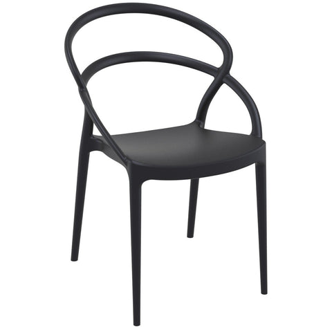 Compamia Pia Dining Chair Black ISP086-BLA - RestaurantFurniturePlus + Chairs - 1