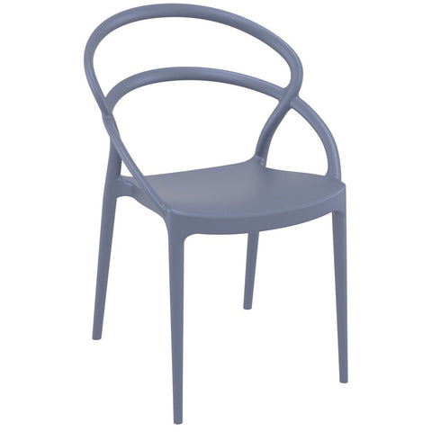 Compamia Pia Dining Chair Dark Gray ISP086-DGR - RestaurantFurniturePlus + Chairs - 1