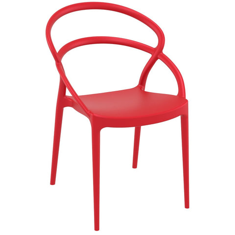 Compamia Pia Dining Chair Red ISP086-RED - RestaurantFurniturePlus + Chairs - 1