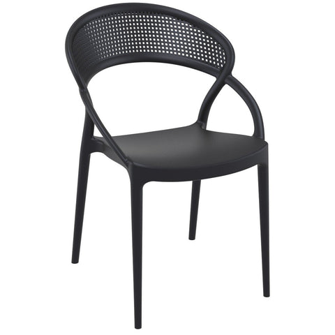Compamia Sunset Dining Chair Black ISP088-BLA - RestaurantFurniturePlus + Chairs - 1