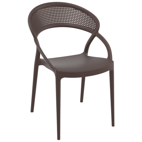 Compamia Sunset Dining Chair Brown ISP088-BRW - RestaurantFurniturePlus + Chairs - 1