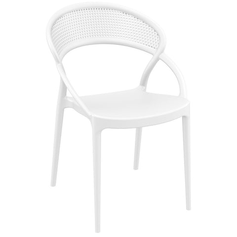 Compamia Sunset Dining Chair White ISP088-WHI - RestaurantFurniturePlus + Chairs - 1