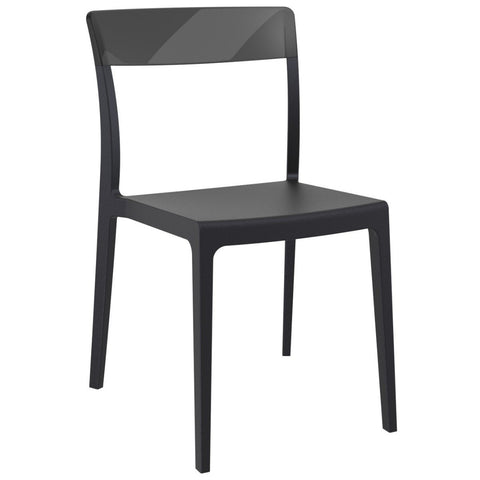 Compamia Flash Dining Chair Black Transparent Black ISP091-BLA-TBLA - RestaurantFurniturePlus + Chairs - 1