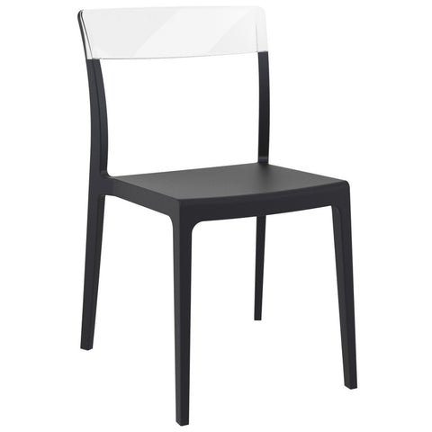 Compamia Flash Dining Chair Black Transparent Clear ISP091-BLA-TCL - RestaurantFurniturePlus + Chairs - 1
