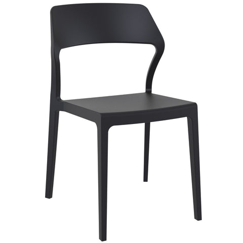 Compamia Snow Dining Chair Black ISP092-BLA - RestaurantFurniturePlus + Chairs - 1