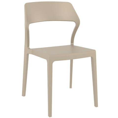 Compamia Snow Dining Chair Dove Gray ISP092-DVR - RestaurantFurniturePlus + Chairs - 1
