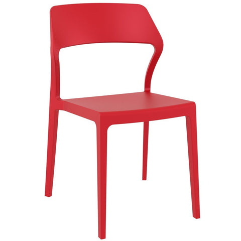 Compamia Snow Dining Chair Red ISP092-RED - RestaurantFurniturePlus + Chairs - 1