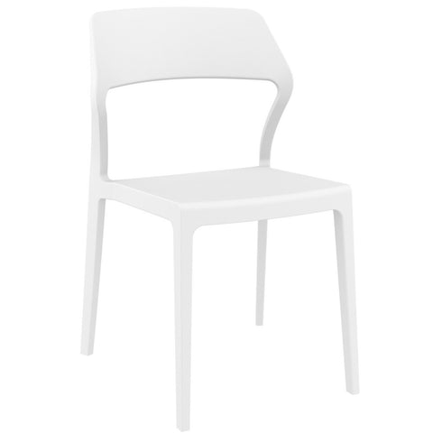 Compamia Snow Dining Chair White ISP092-WHI - RestaurantFurniturePlus + Chairs - 1