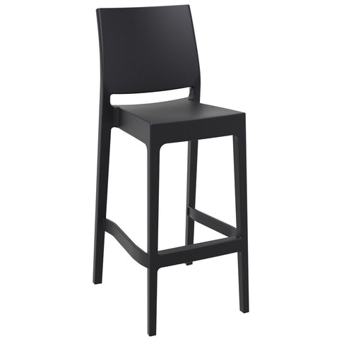 Compamia Maya Resin Barstool Black ISP099-BLA - RestaurantFurniturePlus + Barstools - 1