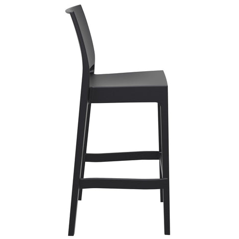 Compamia Maya Resin Barstool Black ISP099-BLA - RestaurantFurniturePlus + Barstools - 2