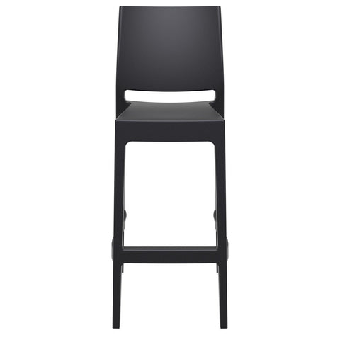 Compamia Maya Resin Barstool Black ISP099-BLA - RestaurantFurniturePlus + Barstools - 3