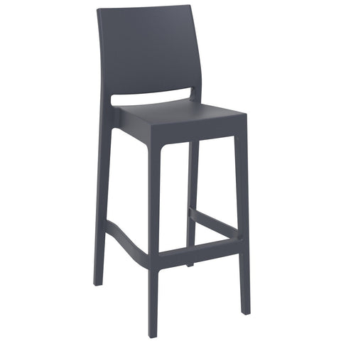 Compamia Maya Resin Barstool Dark Gray ISP099-DGR - RestaurantFurniturePlus + Barstools - 1