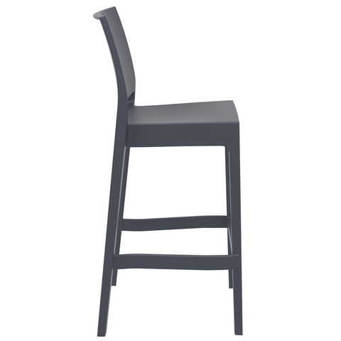Compamia Maya Resin Barstool Dark Gray ISP099-DGR - RestaurantFurniturePlus + Barstools - 2