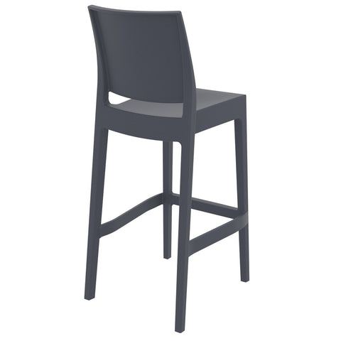Compamia Maya Resin Barstool Dark Gray ISP099-DGR - RestaurantFurniturePlus + Barstools - 4