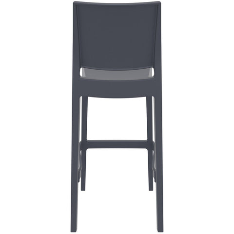 Compamia Maya Resin Barstool Dark Gray ISP099-DGR - RestaurantFurniturePlus + Barstools - 5