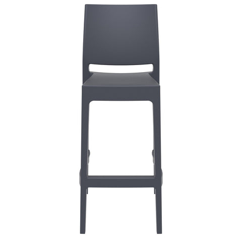 Compamia Maya Resin Barstool Dark Gray ISP099-DGR - RestaurantFurniturePlus + Barstools - 3