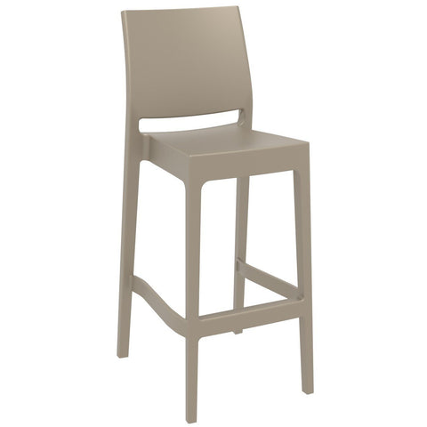 Compamia Maya Resin Barstool Dove Gray ISP099-DVR - RestaurantFurniturePlus + Barstools - 1