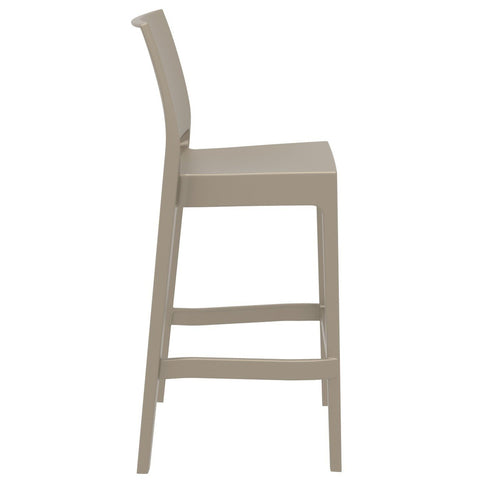 Compamia Maya Resin Barstool Dove Gray ISP099-DVR - RestaurantFurniturePlus + Barstools - 2