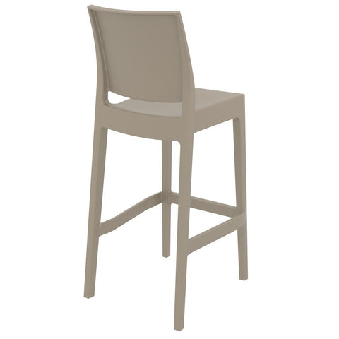 Compamia Maya Resin Barstool Dove Gray ISP099-DVR - RestaurantFurniturePlus + Barstools - 4