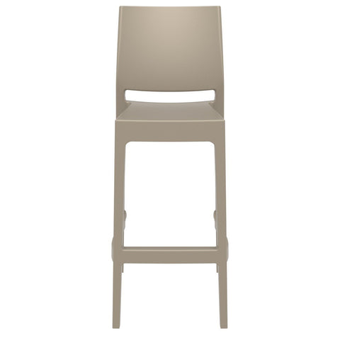 Compamia Maya Resin Barstool Dove Gray ISP099-DVR - RestaurantFurniturePlus + Barstools - 3