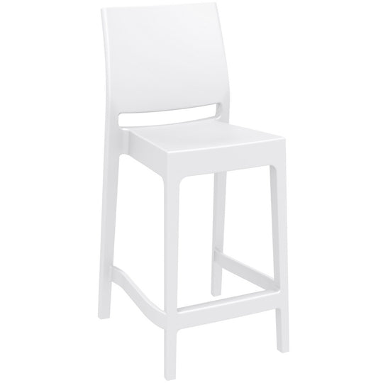 Compamia Maya Resin Barstool White ISP099-WHI - RestaurantFurniturePlus + Barstools - 1