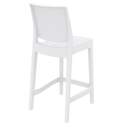 Compamia Maya Resin Barstool White ISP099-WHI - RestaurantFurniturePlus + Barstools - 4