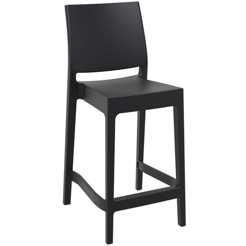 Compamia Maya Resin Counter Stool Black ISP100-BLA - RestaurantFurniturePlus + Barstools - 1
