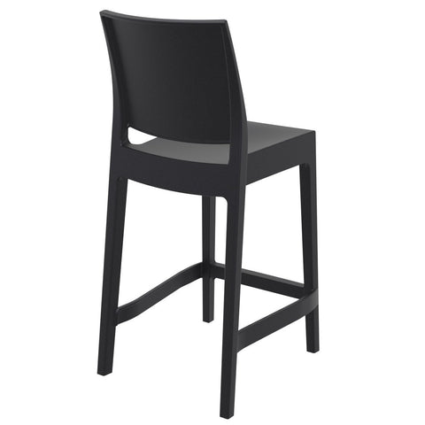 Compamia Maya Resin Counter Stool Black ISP100-BLA - RestaurantFurniturePlus + Barstools - 4