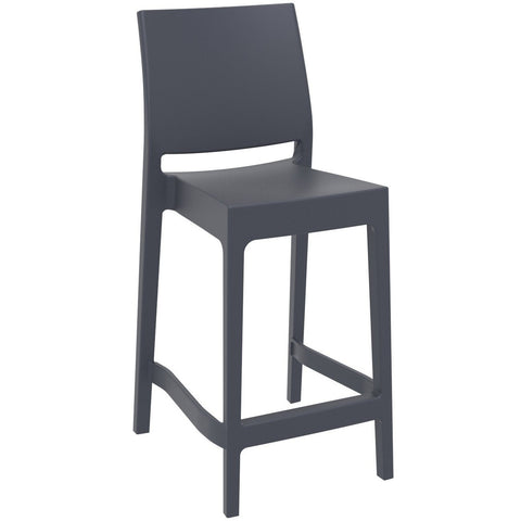 Compamia Maya Resin Counter Stool Dark Gray ISP100-DGR - RestaurantFurniturePlus + Barstools - 1