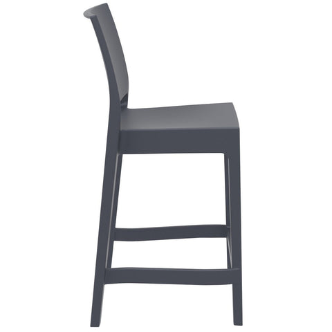 Compamia Maya Resin Counter Stool Dark Gray ISP100-DGR - RestaurantFurniturePlus + Barstools - 2