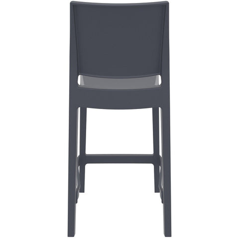 Compamia Maya Resin Counter Stool Dark Gray ISP100-DGR - RestaurantFurniturePlus + Barstools - 5