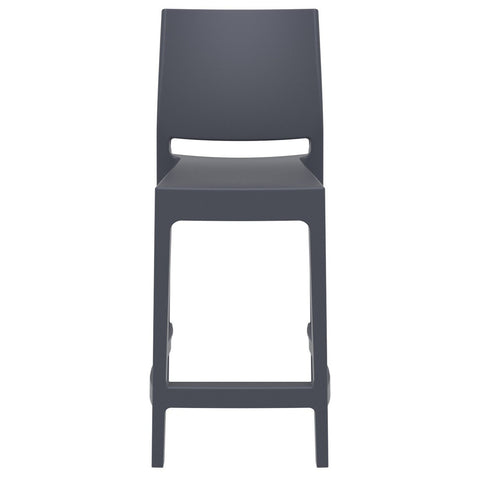 Compamia Maya Resin Counter Stool Dark Gray ISP100-DGR - RestaurantFurniturePlus + Barstools - 3