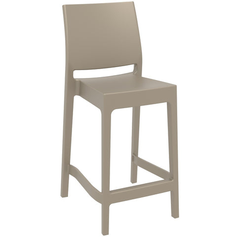 Compamia Maya Resin Counter Stool Dove Gray ISP100-DVR - RestaurantFurniturePlus + Barstools - 1