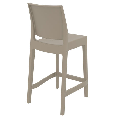 Compamia Maya Resin Counter Stool Dove Gray ISP100-DVR - RestaurantFurniturePlus + Barstools - 4
