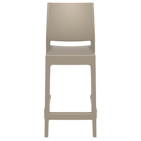 Compamia Maya Resin Counter Stool Dove Gray ISP100-DVR - RestaurantFurniturePlus + Barstools - 3