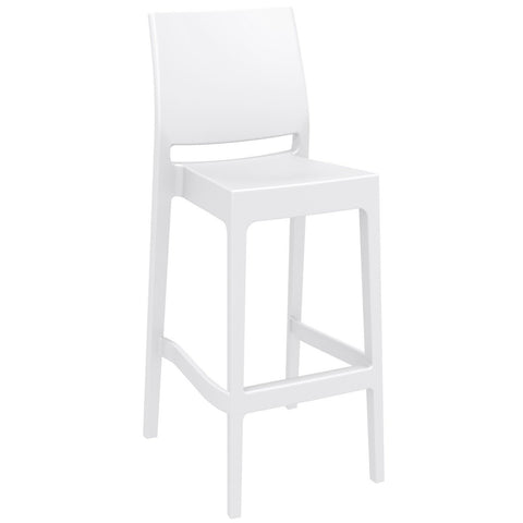 Compamia Maya Resin Counter Stool White ISP100-WHI - RestaurantFurniturePlus + Barstools - 1
