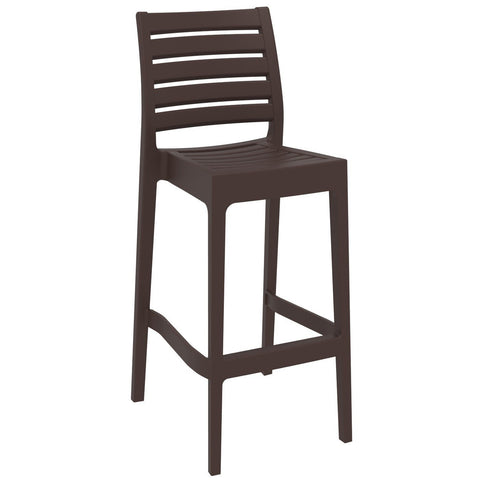 Compamia Ares Resin Barstool Brown ISP101-BRW - RestaurantFurniturePlus + Barstools - 1