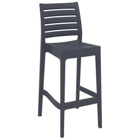 Compamia Ares Resin Barstool Dark Gray ISP101-DGR - RestaurantFurniturePlus + Barstools - 1