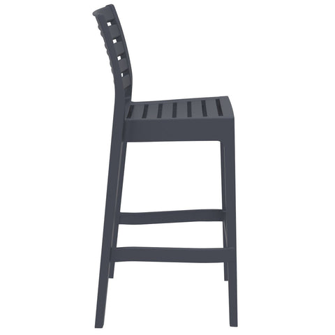 Compamia Ares Resin Barstool Dark Gray ISP101-DGR - RestaurantFurniturePlus + Barstools - 2