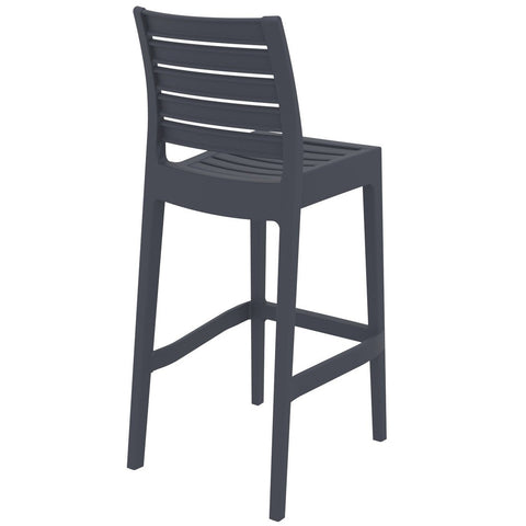 Compamia Ares Resin Barstool Dark Gray ISP101-DGR - RestaurantFurniturePlus + Barstools - 4