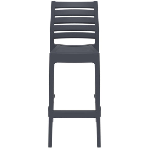 Compamia Ares Resin Barstool Dark Gray ISP101-DGR - RestaurantFurniturePlus + Barstools - 3