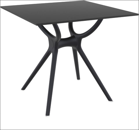 Compamia Air Square Table 31 inch Black ISP700-BLA - YourBarStoolStore + Chairs, Tables and Outdoor  - 3