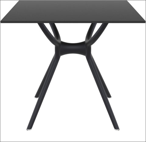 Compamia Air Square Table 31 inch Black ISP700-BLA - YourBarStoolStore + Chairs, Tables and Outdoor  - 1