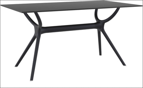 Compamia Air Rectangle Table 55 inch Black ISP705-BLA - RestaurantFurniturePlus + Chairs, Tables and Outdoor - 1