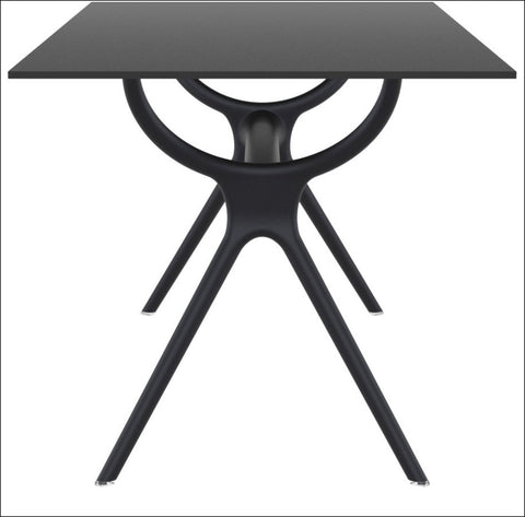 Compamia Air Rectangle Table 55 inch Black ISP705-BLA - RestaurantFurniturePlus + Chairs, Tables and Outdoor - 3