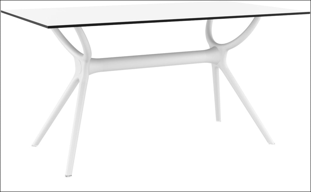 Compamia Air Rectangle Table 55 inch White ISP705-WHI - RestaurantFurniturePlus + Chairs, Tables and Outdoor - 2