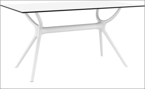 Compamia Air Rectangle Table 55 inch White ISP705-WHI - YourBarStoolStore + Chairs, Tables and Outdoor  - 2