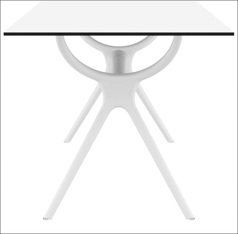 Compamia Air Rectangle Table 55 inch White ISP705-WHI - YourBarStoolStore + Chairs, Tables and Outdoor  - 1