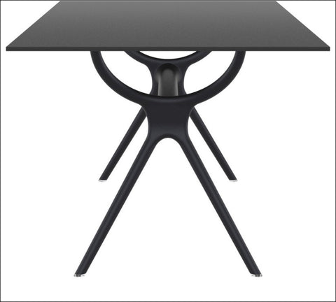 Compamia Air Rectangle Table 71 inch Black ISP715-BLA - RestaurantFurniturePlus + Chairs, Tables and Outdoor - 1
