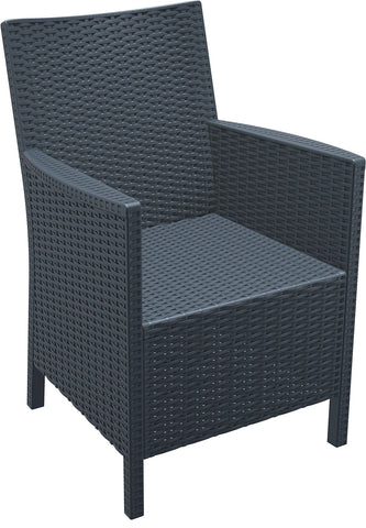 Compamia California Resin Wickerlook Chair Dark Gray ISP806-DG - RestaurantFurniturePlus + Chairs, Tables and Outdoor - 3